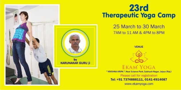23rd Therapeutic Yoga Camp
